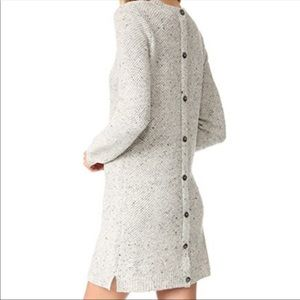 Madewell Donegal Back Button Sweater Dress XS